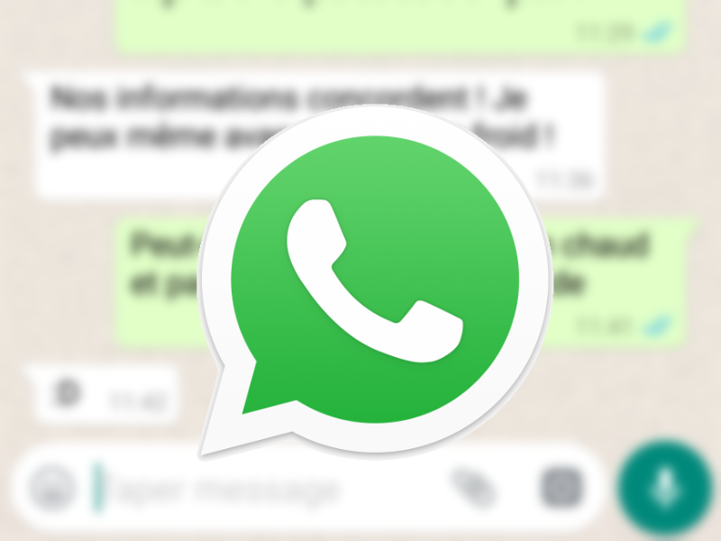whatsapp confidentialite