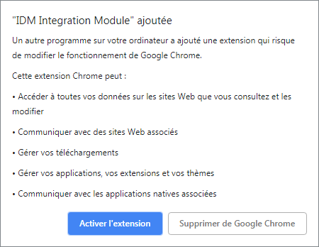 extension IDM chrome