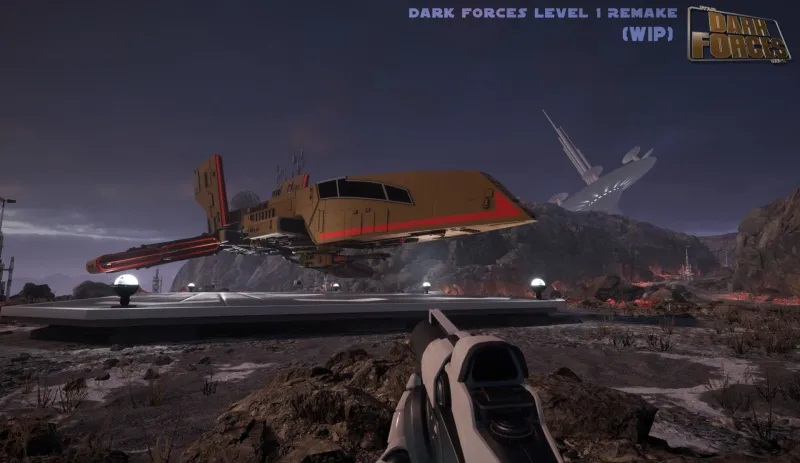 Image 1 : Un fan a recréé le premier niveau de Star Wars : Dark Forces avec l'Unreal Engine 4