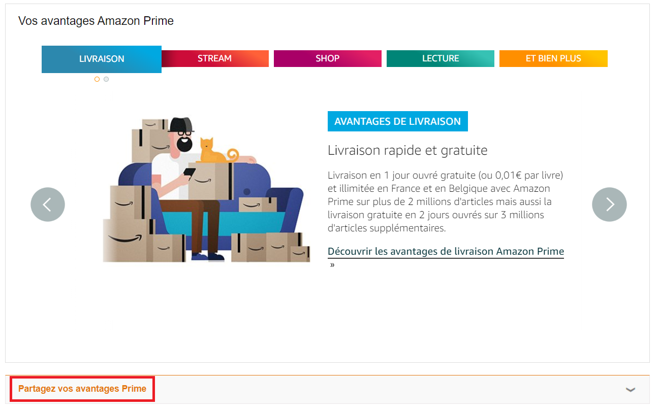 inviter proches amis amazon prime