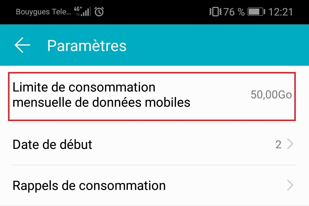 bloquer donnees mobiles forfait android