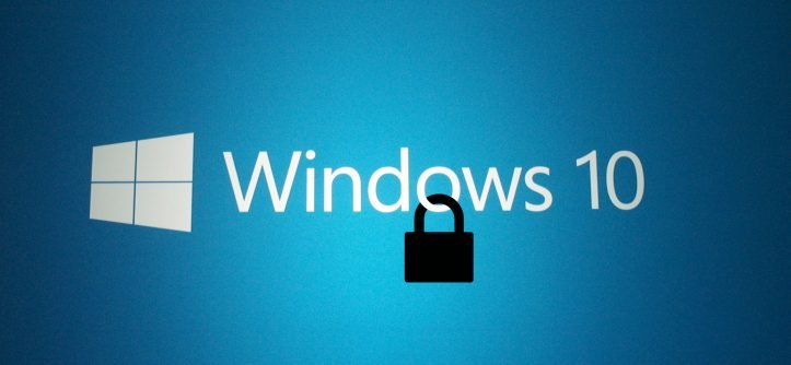 Cadenas sur logo windows 10