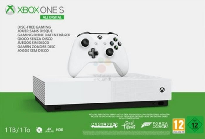 Image 1 : Xbox One S All Digital : photos, prix et date de sortie se font la malle