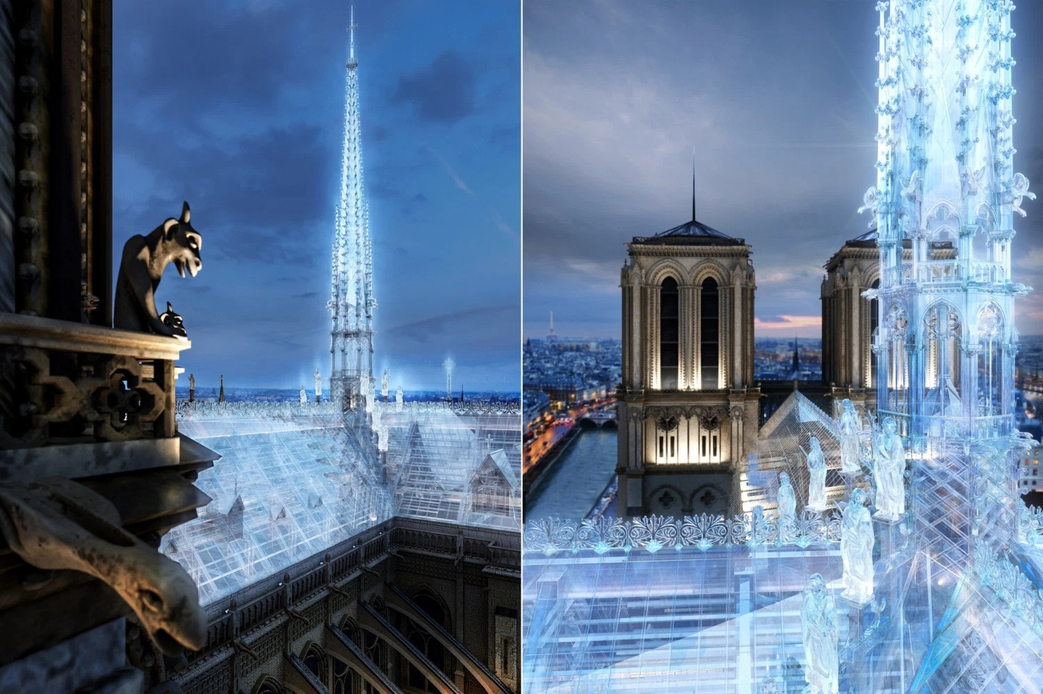 Image 1 : Le designer du Cube d'Apple propose de transformer Notre-Dame en Apple Store
