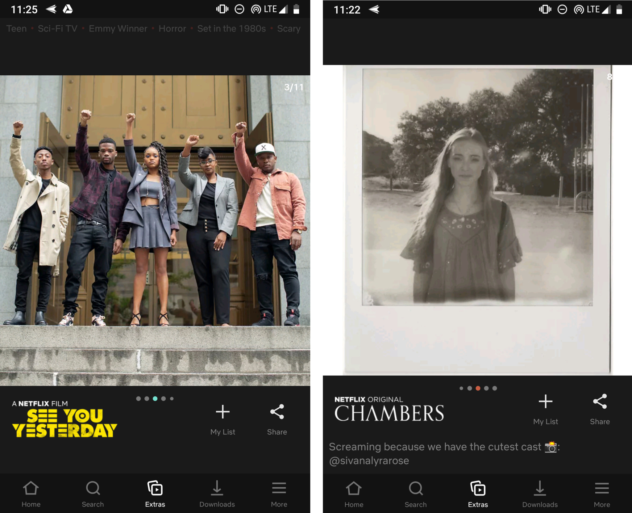 Image 1 : Netflix teste des « Stories » pour son application mobile