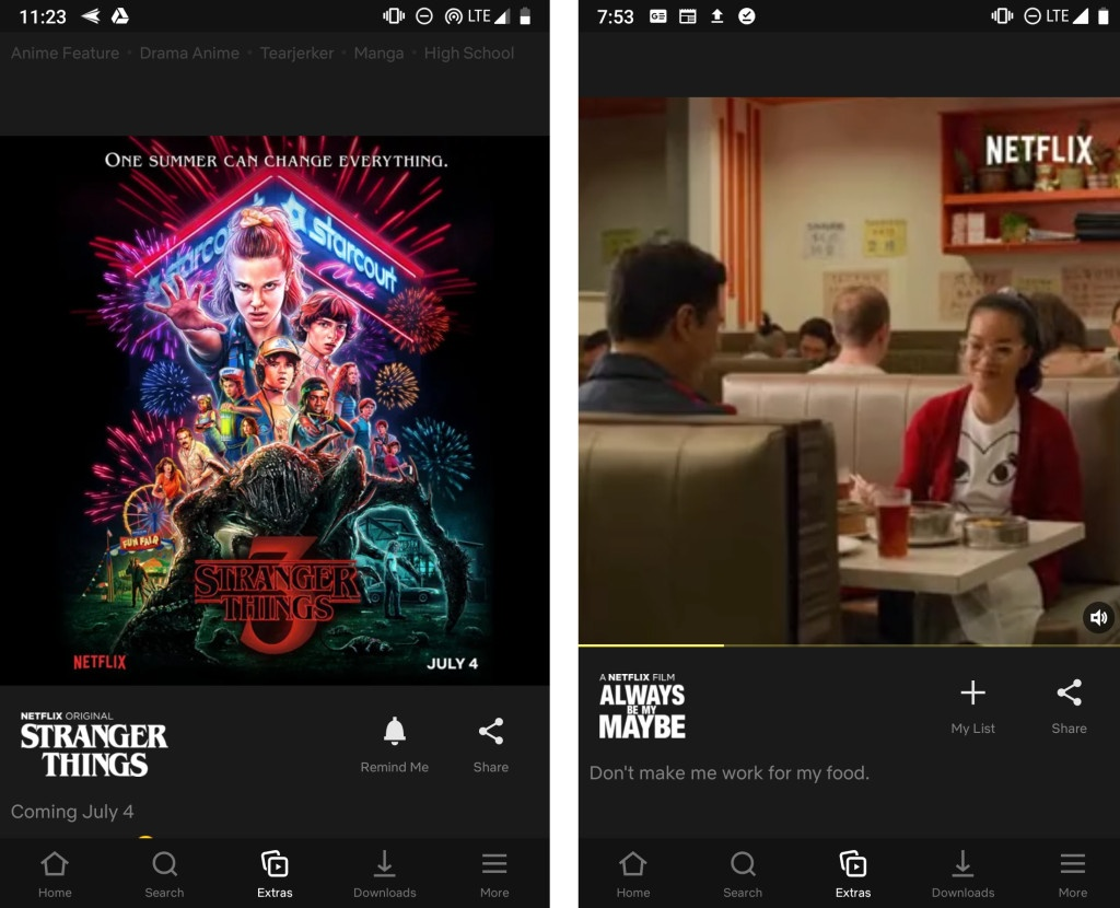 Image 2 : Netflix teste des « Stories » pour son application mobile