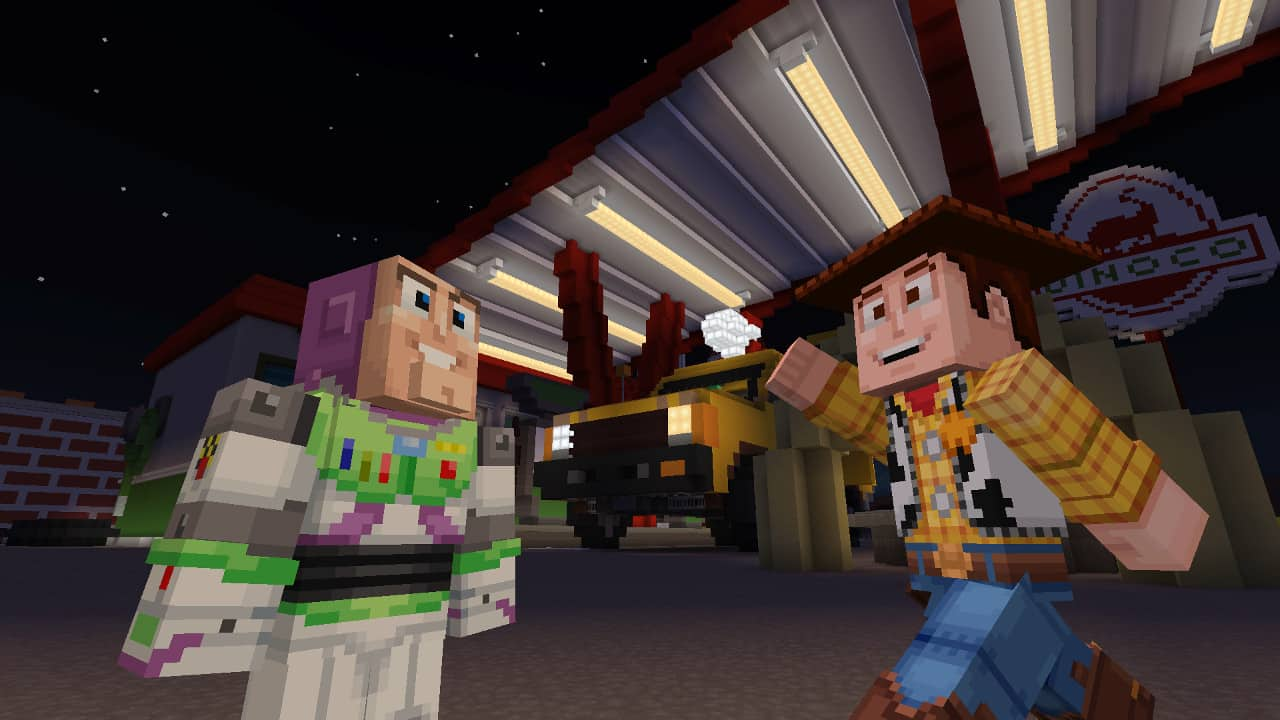 Image 1 : Microsoft sort un mash-up Minecraft Toy Story