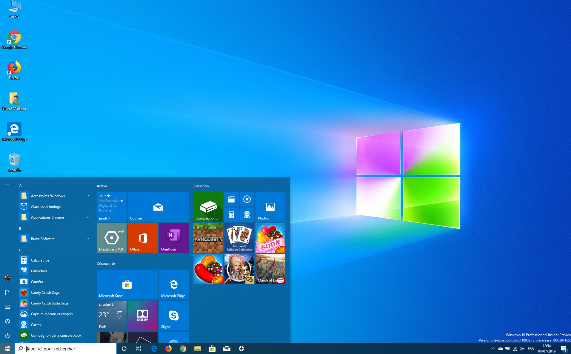 Image 1 : Windows 10 : quoi de neuf dans la version 18932 ?