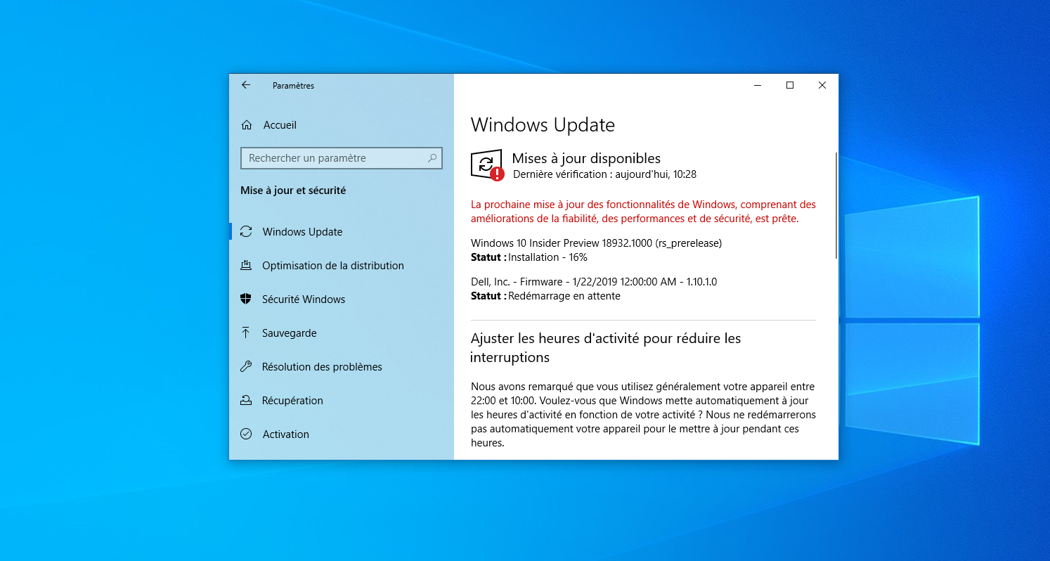 Image 5 : Windows 10 : quoi de neuf dans la version 18932 ?