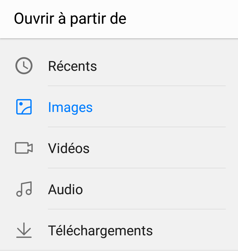 ouvrir images whatsapp
