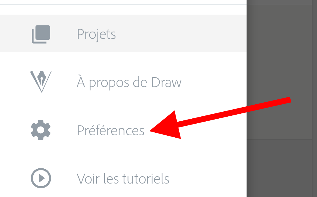 preferences application adobe