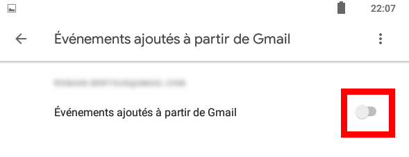 evenements gmail