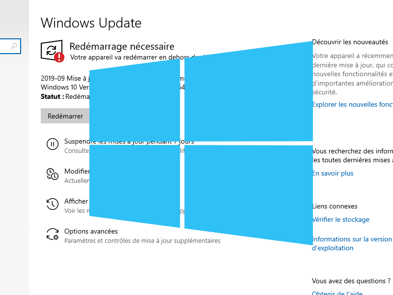 Windows 10 Windows Update mises a jour