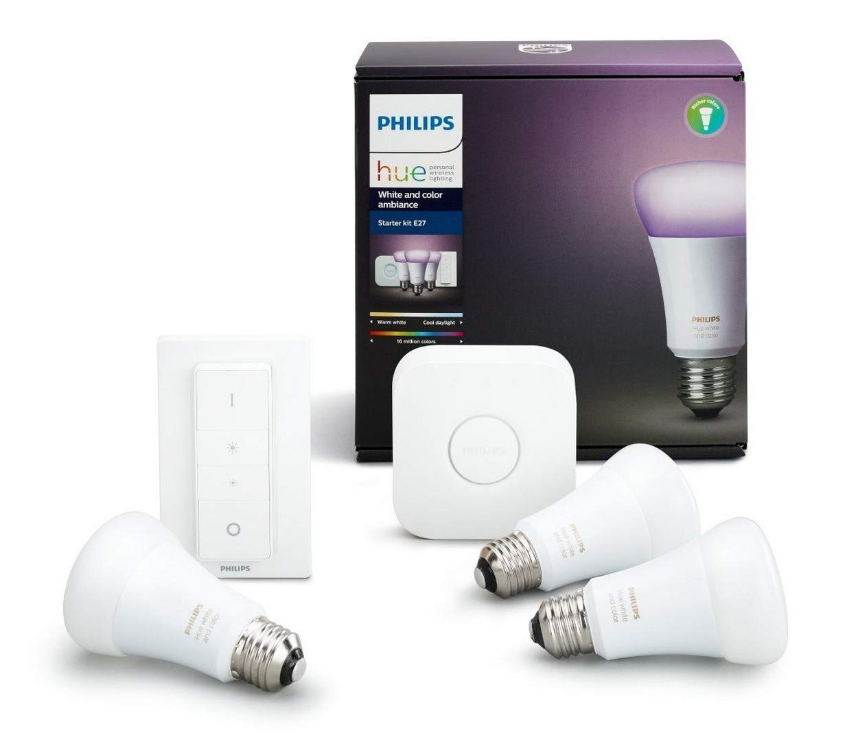 Image 1 : [Promo] Le kit Philips Hue White and Color Ambiance à 105 €