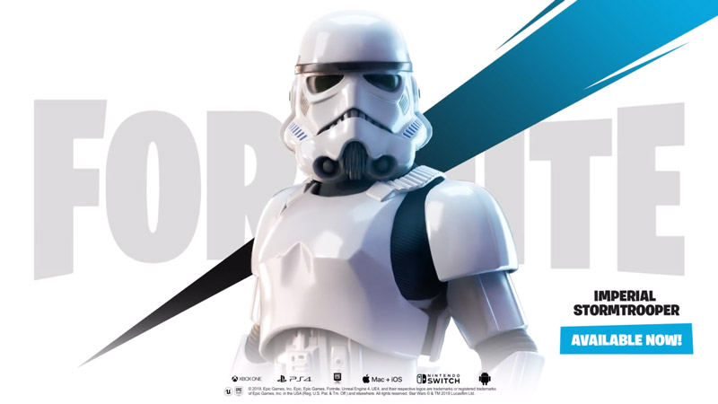 Image 1 : Un skin Stormtrooper et un Star Destroyer apparaissent dans Fortnite