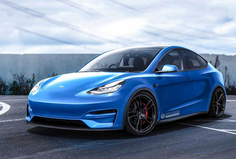 Image 1 : Tesla Model Y modifiée : la Porsche 911 Turbo sur le carreau ?