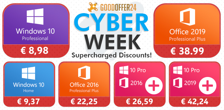 Image 1 : Goodoffer24 : Windows 10 Pro à 8,98 € pour la CyberWeek