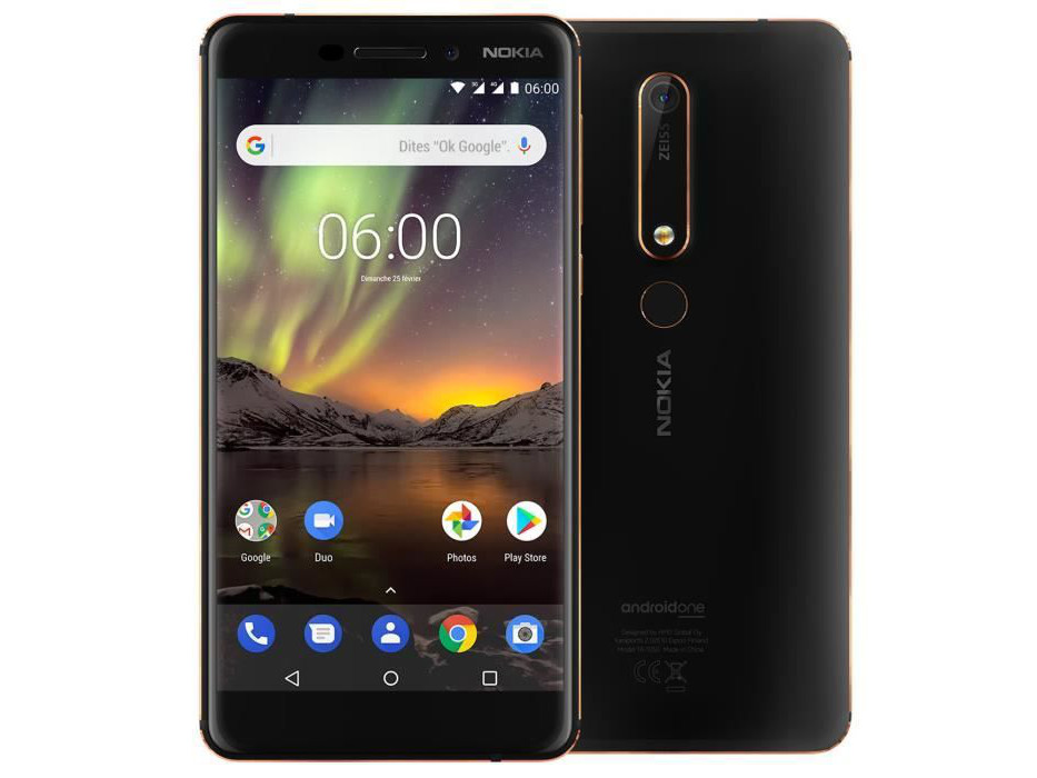 Image 1 : Le smartphone Nokia 6.1, sous Android One, à 199 €