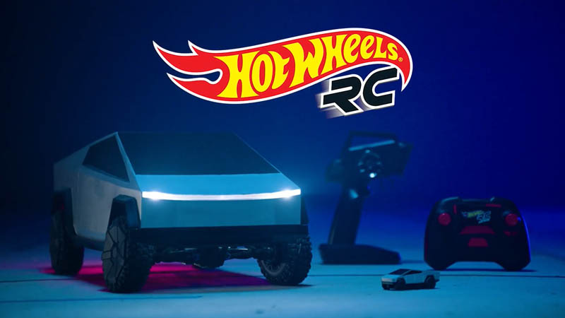 Image 1 : Tesla Cybertruck : Hot Wheels sort 2 versions télécommandées du pick-up électrique
