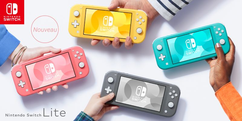 Image 1 : La Nintendo Switch Lite couleur corail arrive le 24 avril
