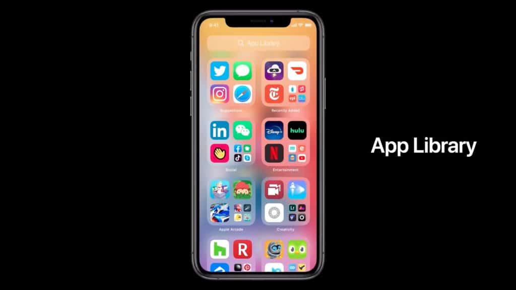 ios 14 apple app library organiser applications