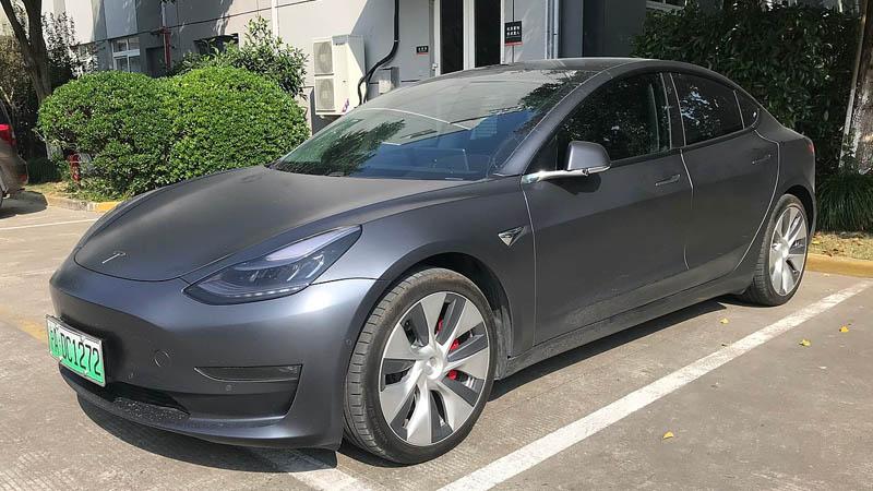 Une voiture électrique Tesla