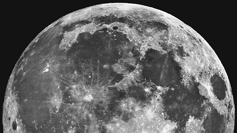 Photo de la Lune prise par le télescope spatial Hubble