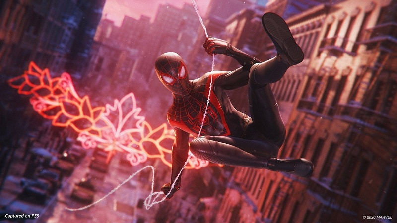 Capture d'écran de Marvel's Spider-Man : Miles Morales sur la PS5