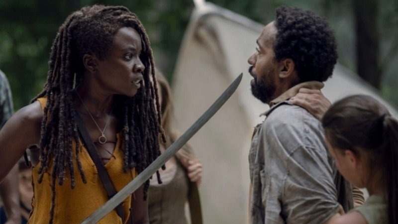 Michonne et Virgil dans The Walking Dead