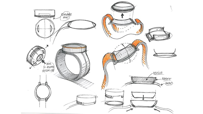 Croquis du design de la OnePlus Watch