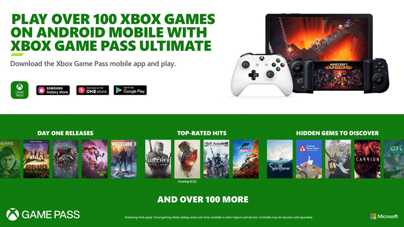 Xbox Game Pass Android - Xbox