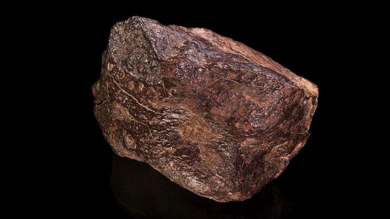 Une météorite chondrite de type H4. Crédits : Wikipédia