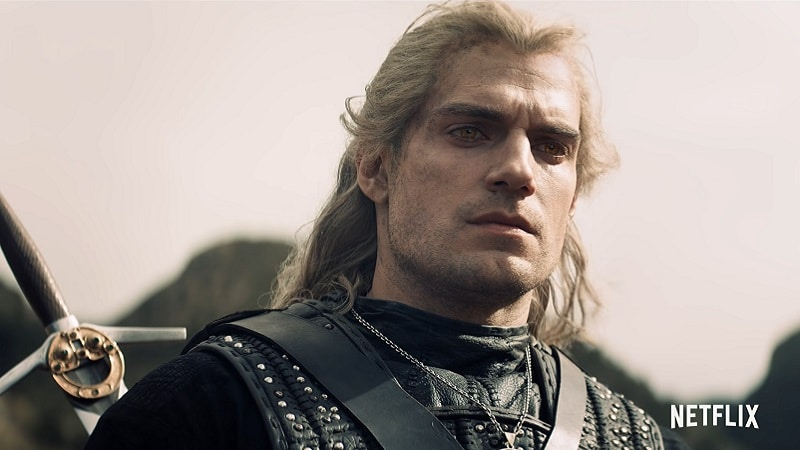 Geralt de Riv (Henry Cavill) dans the Witcher