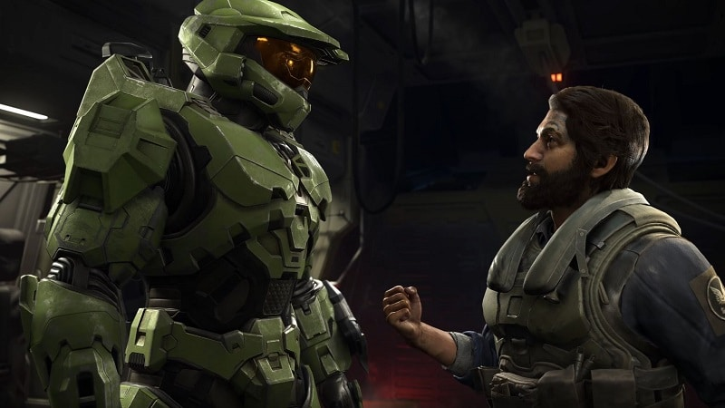Images of the first gameplay of Halo Infinite.  Credit: 343 Industries / Microsoft