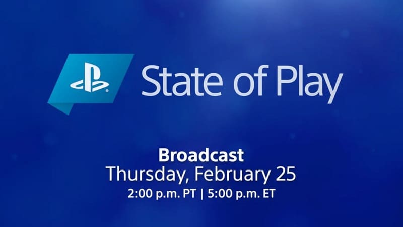 State of Play announcement for tomorrow Thursday February 25 at 10 p.m.  Credit: PlayStation