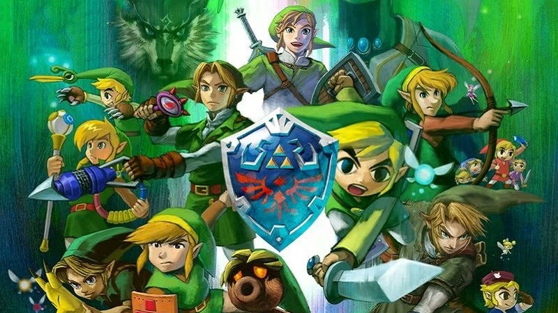 The different representations of Link in the Zelda games