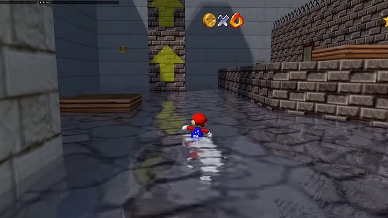The PC port of Super Mario 64 with ray tracing