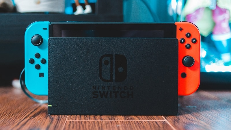 La Nintendo Switch dans son dock