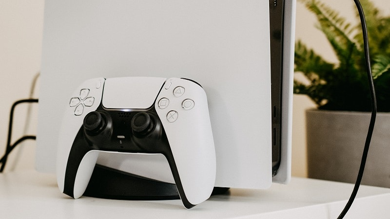The DualSense controller and the PS5