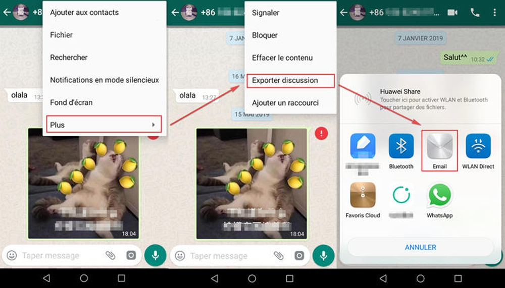 Image 8 : Transférer WhatsApp Android vers iPhone 13, comment faire ?