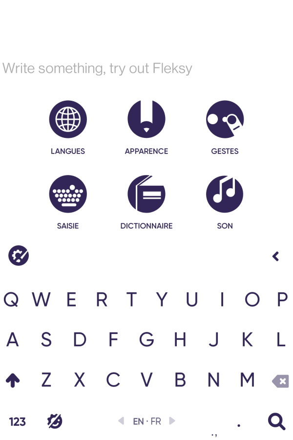clavier android fleksy
