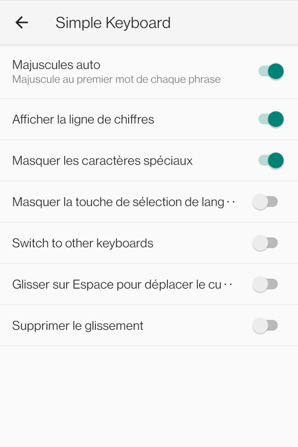 clavier android simple keyboard