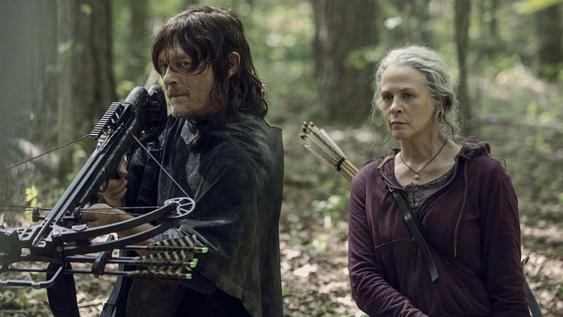Daryl et Carol dans The Walking Dead