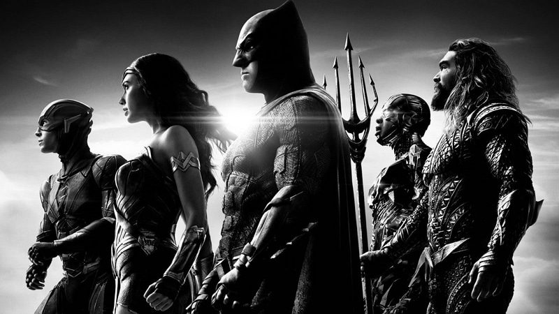 Flash, Wonder Woman, Batman, Cyborg et Aquaman