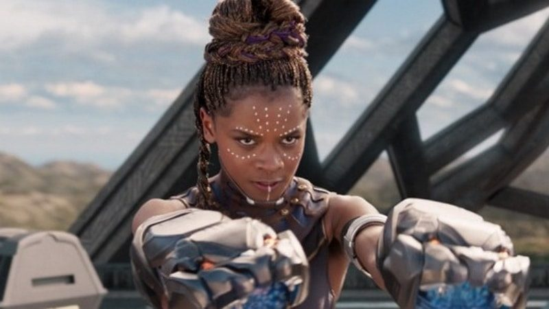Letitia Wright (Shuri) dans le film Black Panther