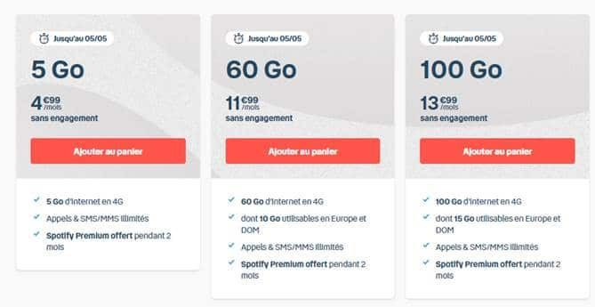 3 forfaits bouygues promo